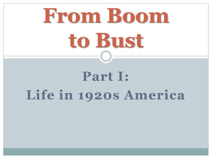 from boom to bust n.