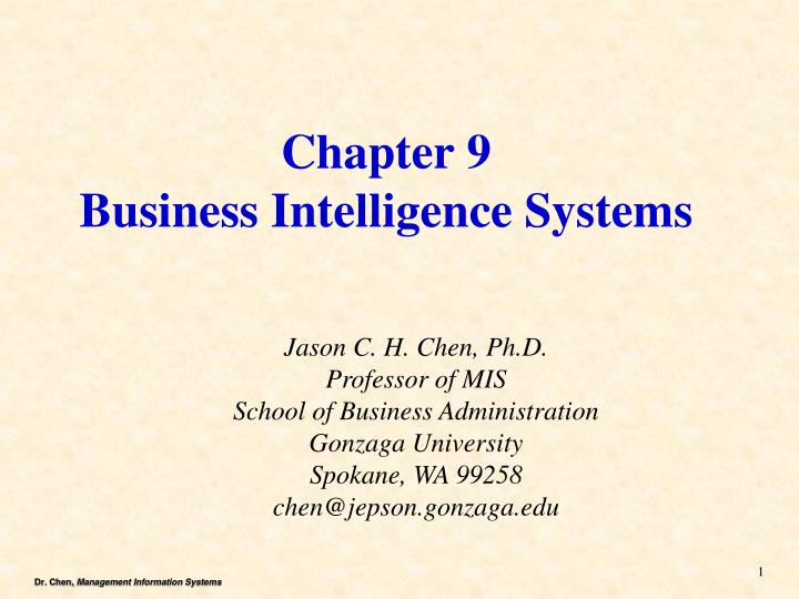 chapter 9 business intelligence systems n.