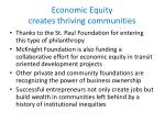 economic equity creates thriving communities