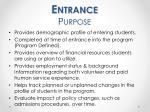 entrance purpose