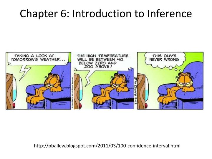 chapter 6 introduction to inference n.