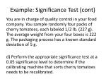 example significance test cont