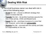 dealing with risk