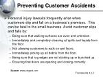 preventing customer accidents