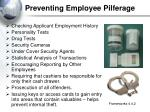 preventing employee pilferage