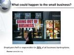 what could happen to the small business