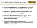 the latam stock exchanges main drivers