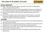the latam vc pe market outlook