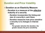 duration and price volatility1