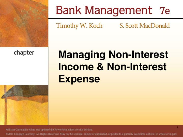 managing non interest income non interest expense n.