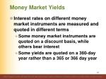 money market yields1