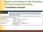 recent innovations in the valuation of fixed income securities4