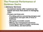 the financial performance of goldman sachs1