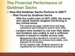 the financial performance of goldman sachs11