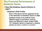 the financial performance of goldman sachs13