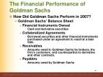 the financial performance of goldman sachs8