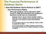 the financial performance of goldman sachs9