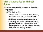 the mathematics of interest rates2