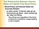 the relationship between interest rates and option free bond prices2
