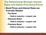 the relationship between interest rates and option free bond prices5
