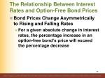 the relationship between interest rates and option free bond prices7