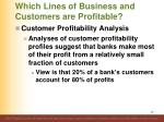 which lines of business and customers are profitable1