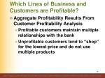 which lines of business and customers are profitable5