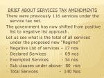 brief about services tax amendments