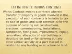 definition of works contract