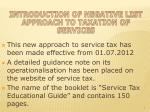 introduction of negative list approach to taxation of services1