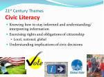 21 st century themes civic literacy