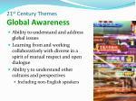21 st century themes global awareness