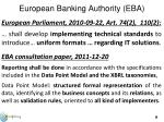 european banking authority eba
