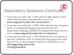 dependency questions continued1