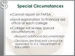 special circumstances
