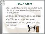 teach grant