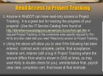 read access to project tracking