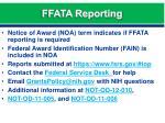 ffata reporting