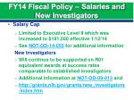 fy14 fiscal policy salaries and new investigators