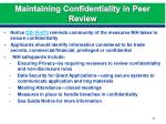 maintaining confidentiality in peer review