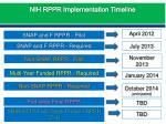 nih rppr implementation timeline