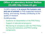 office of laboratory animal welfare olaw http olaw nih gov