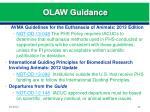 olaw guidance