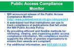 public access compliance monitor