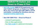sbir sttr switch and direct to phase ii pilot