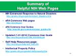 summary of helpful nih web pages2