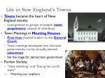 life in new england s towns