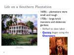 life on a southern plantation