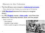 slavery in the colonies1