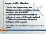 approvals certification